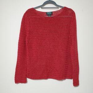 Lauren Ralph Lauren red linen cotton sweater